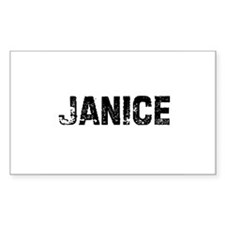 Janice Rectangle Decal