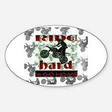 Cute Dirtbike Sticker (Oval)