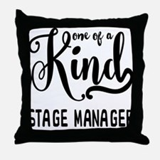 One of a Kind Stage Manager Throw Pillow