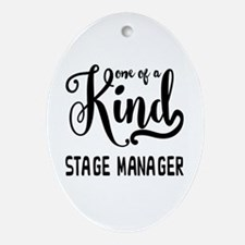 One of a Kind Stage Manager Oval Ornament