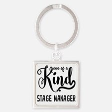 One of a Kind Stage Manager Square Keychain