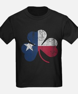 Vintage Irish Texas Flag Shamrock T-Shirt