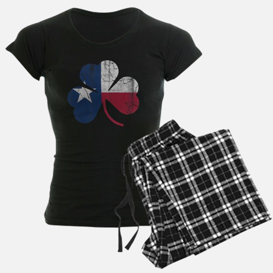 Vintage Irish Texas Flag Shamrock Pajamas