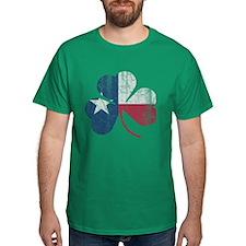 Vintage Irish Texas Flag Shamrock T-Shirt