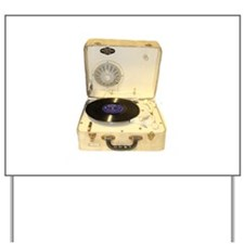 Vintage 1950s record player for vinyl re Yard Sign