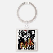 Punk Rock music fashion art and design Keychains