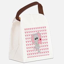 Unique Hearts Canvas Lunch Bag