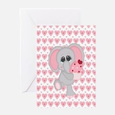 Funny Mother elephant and baby elephant Greeting Card
