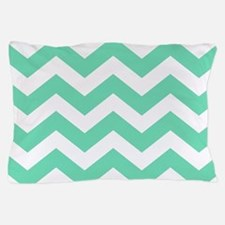 Mint Green Zigzags Pillow Case