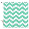 Mint Green Zigzags Shower Curtain