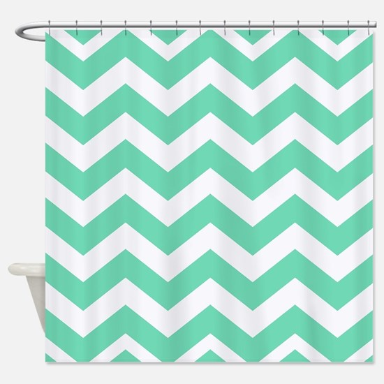 mint green shower curtain. Mint Green Zigzags Shower Curtain Seafoam Curtains  CafePress