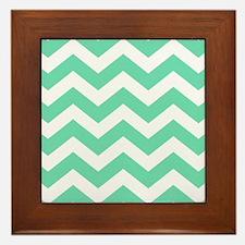 Mint Green Zigzags Framed Tile
