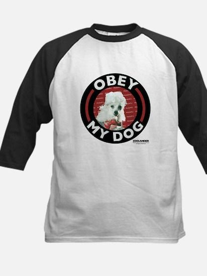 Obey My Dog Kids Baseball Jersey