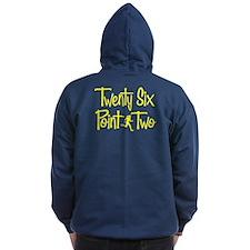 TWENTY SIX POINT TWO Zip Hoodie (BOTH SIDES)