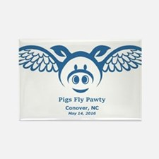 Blue Pigs Fly Magnets