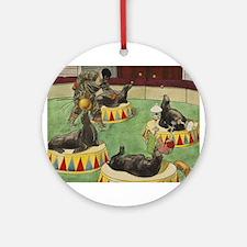 circus art Round Ornament