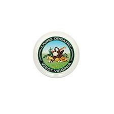 Living Organic West Virginia Mini Button (10 pack)