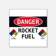 "Cool Danger Square Sticker 3"" x 3"""