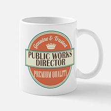 public works director vintage logo Mug