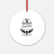 line life journeyman Round Ornament