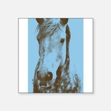 blue and brown horse Sticker