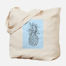 Blue and Brown Pineapple Tote Bag