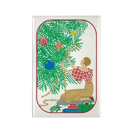 Tree Trimmer Rectangle Magnet (10 pack)