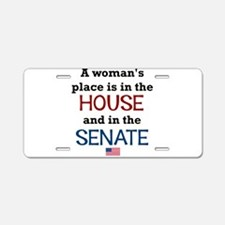 A Woman's Place Is In The H Aluminum License P