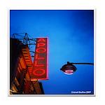 Apollo Theater Marquee @Dusk w/lamp Tile Coaster