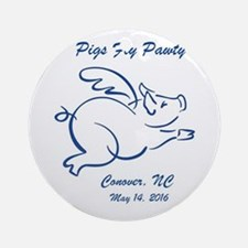 Pigs Fly Pawty Logo 1 Round Ornament