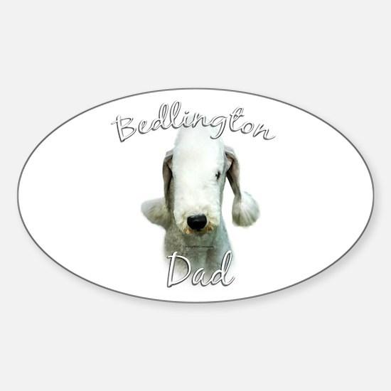 Bedlington Dad2 Oval Decal