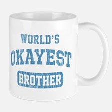 World's Okayest Brother Vintage Small Mugs
