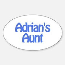 Adrian's Aunt Oval Decal