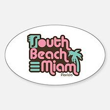 South Beach Miami Florida Sticker (Oval)