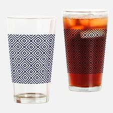 Cute Navy blue Drinking Glass