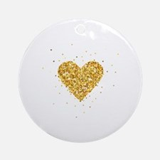 Cute Heart Round Ornament