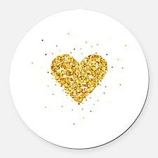 Cute Heart Round Car Magnet