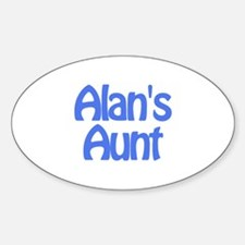 Alan's Aunt Oval Decal