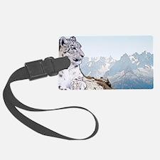 Cute Snow leopard Luggage Tag