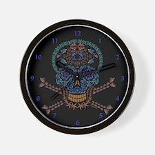Marine Skull Candy Wall Clock
