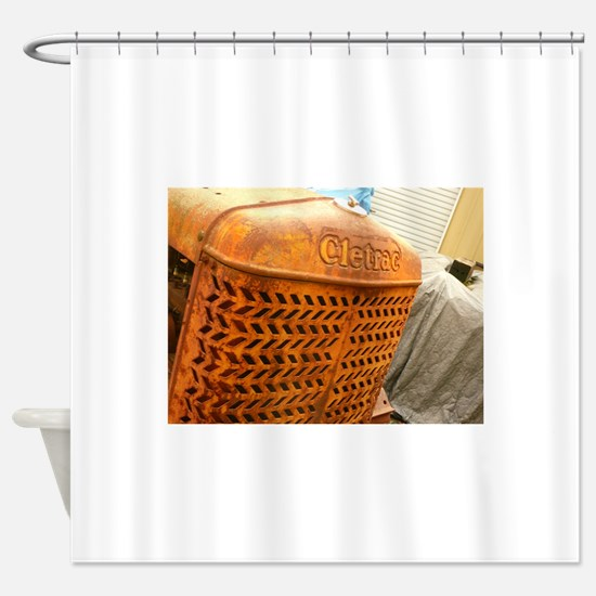 orange grille of tractor Shower Curtain