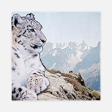 Snow Leopard Drawing Queen Duvet