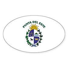 Punta del Este, Uruguay Oval Decal