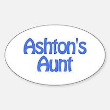 Ashton's Aunt Oval Decal