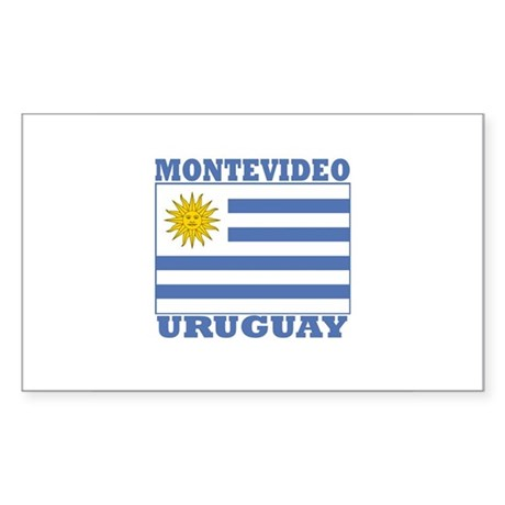 Montevideo, Uruguay Rectangle Sticker