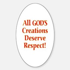 Unique Religious respect Sticker (Oval)