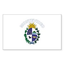 Montevideo, Uruguay Rectangle Decal