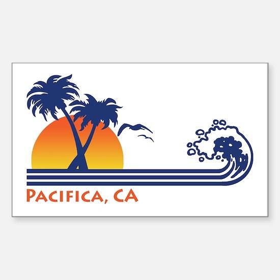 Pacifica California Sticker (Rectangle)
