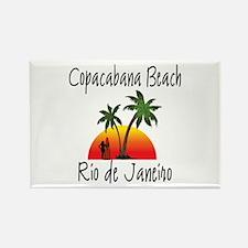 Copacabana Beach Rio de Janeiro Magnets