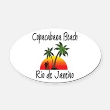 Copacabana Beach Rio de Janeiro Oval Car Magnet